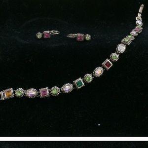 Jewelry - Charming bracelet with earrings